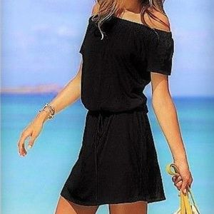 VS Vintage Beach Tee's Off-the-Shoulder Dress